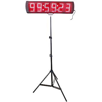 CGOLDENWALL - Reloj de pulsera digital con temporizador de carreras de carreras (LED, 10 m, 6 dígitos, para actividades ...