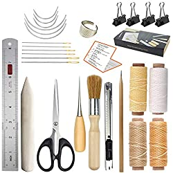 JOFAMY Bookbinding Kits, 17 pcs Bookbinding Supplies