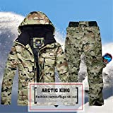 Ocamo Male Camouflage Snowsuit Stylish Waterproof Thermal Ski Jacket and Pant Outdoor Skiing Snowboarding Suit