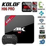KOLOF H96 PRO 3G Amlogic S912 OTT TV Box RAM 3G ROM 16G Android 6.0 KODI 17.0 Octa Core Bluetooth 4.0 Streaming Media Player with Black Mini Keyboard