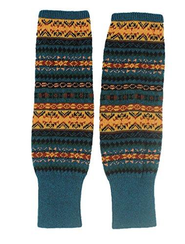 Mi Crochet Winter Calentadores Jelinda Knit pierna Blue Bohemian Woman Calcetines de Lady tBdvq
