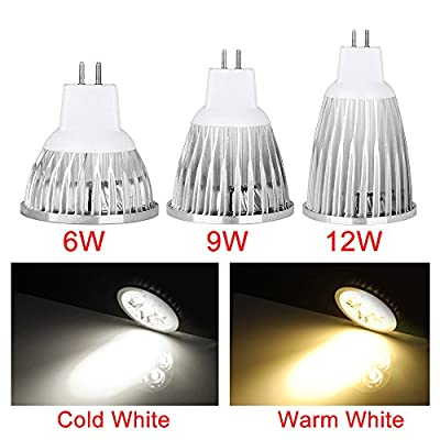 Boshen GU10 MR16 E27 Led Spotlight Bulb Led Light Bulbs Warm White Cool White 2/5/10PCS 12V 86-265V 6/9/12W 30000 - 50000h Life Hours 2800K-6500K