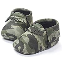 LIVEBOX Infant Baby Moccasins Soft Sole Army Camouflage Anti-Slip Tassels Pre...