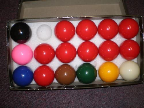 17 Ball Snooker Set-2 inch balls , incl 10 reds by Set of snooker ...