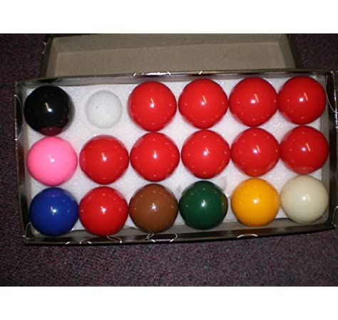 17 Ball Snooker Set-2 inch balls , incl 10 reds by Set of snooker ball for POOL TABLES,: Amazon.es: Deportes y aire libre