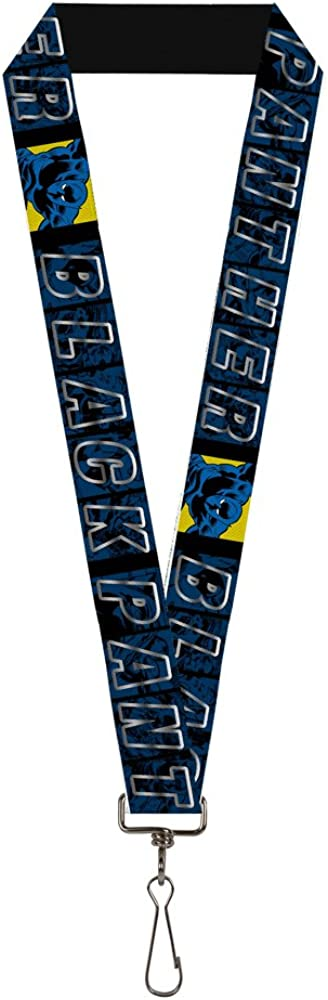 Multicolor Buckle-Down Mens Lanyard-Black Panther Standard