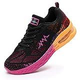 JARLIF Women's LT 2 Road Running Sneakers Fashion Sport Air Fitness Workout Gym Jogging Walking Shoes VioletYellow 7.5 B(M) US