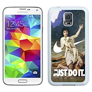 NEW Unique Custom Designed Samsung Galaxy S5 I9600 G900a G900v G900p G900t G900w Phone Case With The Shepherd David Elizabeth Jane Gardner SwooshArt_White Phone Case
