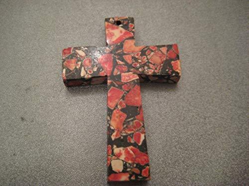 Mosaic Red Magnesite Cross Pendant 1 ()