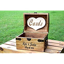 Personalized Wooden Card Box - Rustic Wedding Card Box - Rustic Wedding Decor - Advice Box Wishing Well - Shabby Chic Card Box - Wedding Card Box