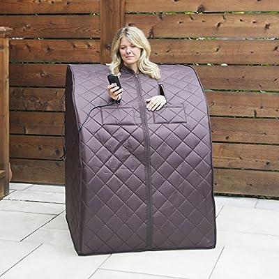 Radiant Saunas BSA6315 Harmony Deluxe Oversized Portable Sauna, Dark Brown : Garden & Outdoor