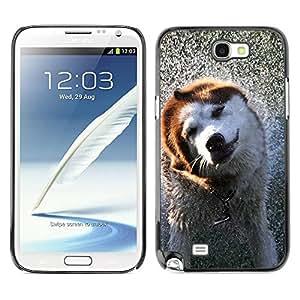 Caucho caso de Shell duro de la cubierta de accesorios de protección BY RAYDREAMMM - Samsung Galaxy Note 2 N7100 - Cool Wet Dog