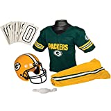 Franklin Sports NFL Green Bay Packers Youth Licensed Deluxe Uniform Set, Large
