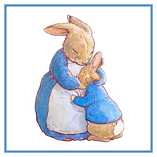 Stitch Cross Pattern Peter Rabbit (Mama Bunny Hugs Peter Rabbit Inspired by Beatrix Potter Counted Cross Stitch Pattern)