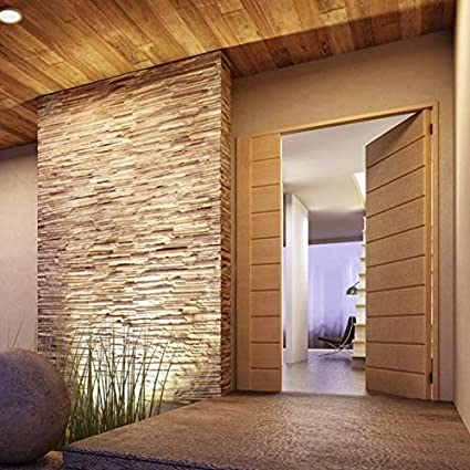 Amazon Com Nordic Style 3d Design Teak Wall Panel Natural Finish