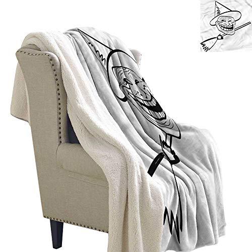 AndyTours Baby Blanket Humor Spooky Halloween Spirit Washable Shaggy Fleece Blanket W59 x L31 ()