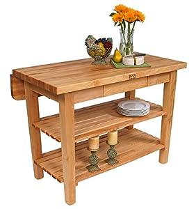 John Boos Kitchen Island Bar Work Table 60in X 32in Black Base Kitchen Islands