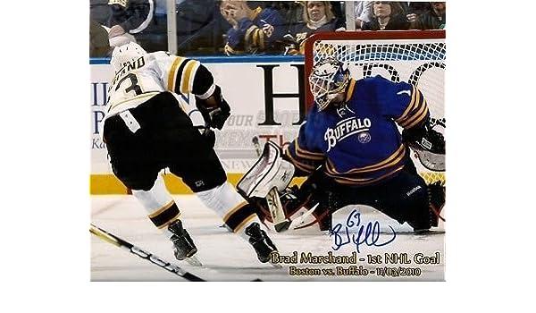 7d07f6b8544 Amazon.com: Brad Marchand Boston Bruins signed 8x10 1st goal script: Sports  Collectibles