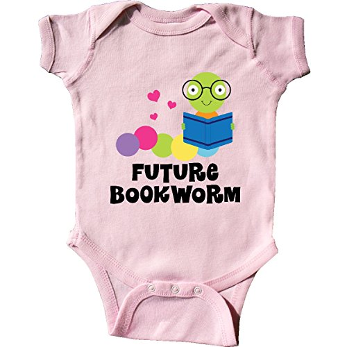 Inktastic - Future Bookworm Infant Creeper 6 Months Pink (Infant Onesie Creeper)