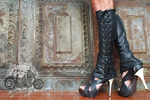 Knee High Lace Up Leather Boots by Kymberly Jo