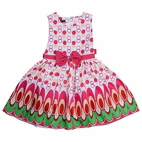 Prinzessin Pink Neue Alter 4–12 Mädchen Pfau Bowknot Kleid Rosa ...