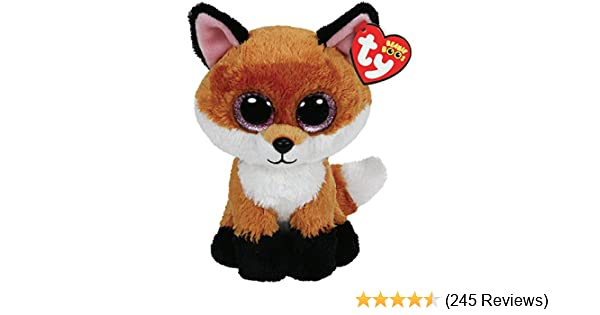 6830a5ada37 Amazon.com  Ty Beanie Boos 6-Inch Slick Brown Fox Plush  Toys   Games