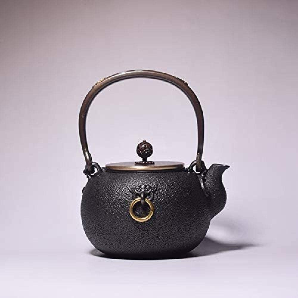 ZJN-JN キントー ティーポット 高級感 おしゃれ プレゼント 茶ポットお茶セット鋳鉄のティーポット茶ポットアイアンティーポット鉄鍋鋳鉄鋳鉄ティーポット沸騰水ティーポットのティーセット1.2L 贈り物