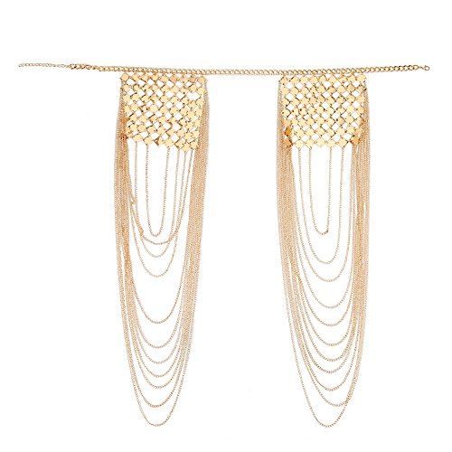 DOTASI Sexy Body Shoulder Chain Fashion Tassels Women Link Harness Necklace ()