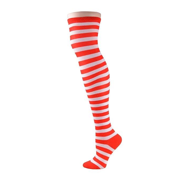 b088924463eaf Tinksky Cosplay Dekoration Party Supplies Clown Socken Zirkus Kostüm (rot  und weiß)