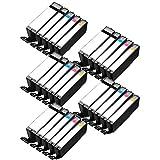 5 Set of 5 Inkfirst® Ink Cartridges PGI-250PGBK CLI-251BK, CLI-251C, CLI-251M, CLI-251Y XL Compatible Remanufactured for Canon PGI-250XL Black, CLI-251XL Black, Cyan, Magenta, Yellow PIXMA iP7220 MG5420 MG5422 MG6320 MX722 MX922