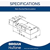 Broan-NuTone BUEZ030WW Broan Economy UC 160 CFM 30N
