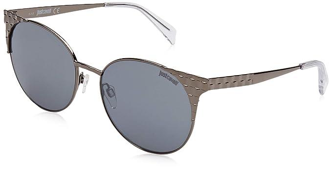 Just Cavalli JC749S Gafas de Sol, Gris (Shiny Gunmetal/Smoke ...