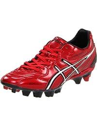 ASICS Men\'s Lethal Stats SK Soccer Shoe,Red/Silver,10.5 M US