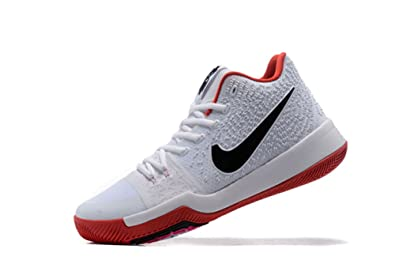 624d77c71047 LYZO Men  s Basketball Shoes Kyrie 3 White Red Sports Shoes 12 D(M ...