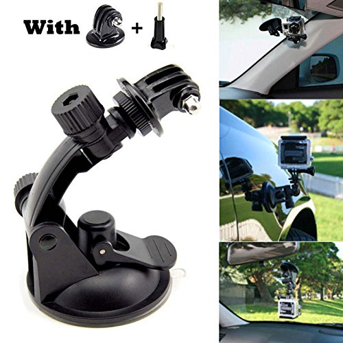 Price comparison product image Gopro Accessories OWIKAR Car Motor Suction Cup Super Strong Suction Mount Holder With Tripod Adapter for Gopro Hero 4 3+ 3 2 1 HD SJCAM SJ4000 Xiaomi Yi Action Cameras Black