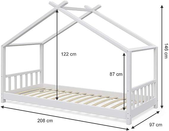 Vicco - Cama Infantil, diseño de casa, 90 x 2000 cm, Cama Infantil ...