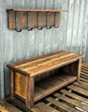 Reclaimed Barnwood Bench & Shelf Set