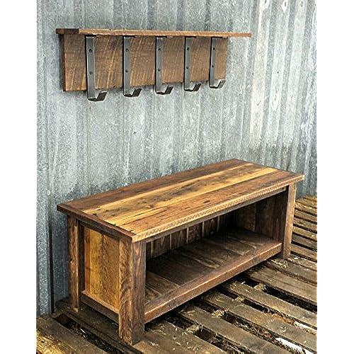 Rustic Wood Bench Amazon Com
