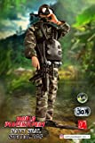 World Peacekeepers Action Figure - 12 Inch Military Action Figure - Army Men Toys w/ 12 Accessories - Power Team Elite (Navy Seal Special Ops)