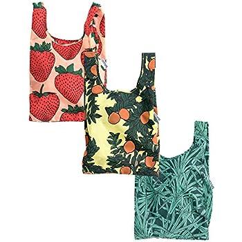 BAGGU Small Reusable Shopping Bag 3 Pack - Botanicals