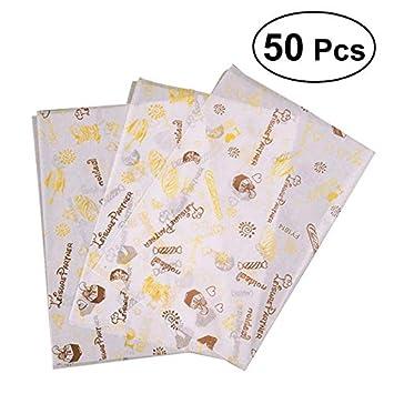 Amazon.com: Aggenix Store Sandwich Wrap Paper 50 Sheets ...