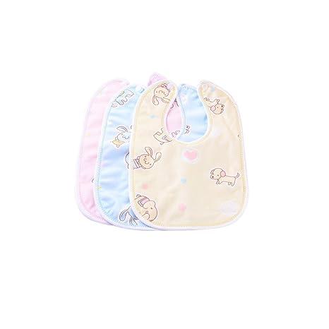 ajew niña bebé Babero Waterproof Babero Con Botones recién nacido de ...