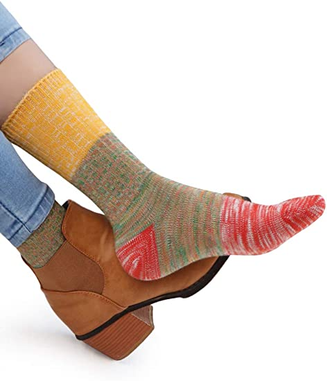 Womens Crew Socks Soft Trendy Dressy Quarter Socks