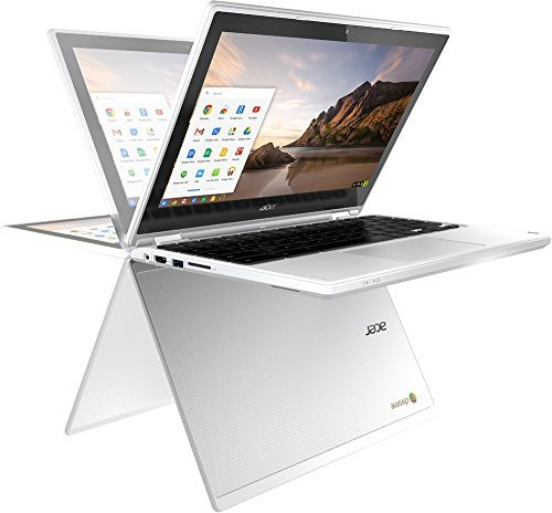 "Acer R11 11.6"" Convertible 2-in-1 HD Premium IPS Touchscreen Chromebook (2018 New), Intel Celeron N3060 1.6GHz, 4GB RAM, 16GB eMMC flash, Bluetooth, HD Webcam, HDMI, USB 3.0, Chrome OS - White"