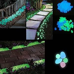 collectsound 10 Piedras Luminosas Que Brillan en la Oscuridad, Piedras Fluorescentes para acuarios, jardín, decoración de parterres, Color al Azar: Amazon.es: Productos para mascotas
