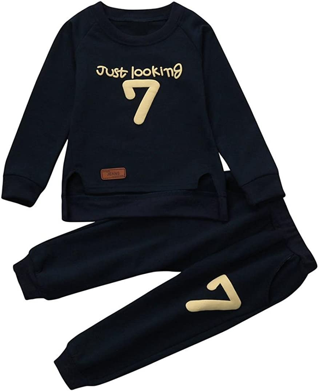 0-24M Hosen Outfits M/ädchen Kleidung Set Druck Tops Huhu833 Baby Kinder M/ädchen Jungen