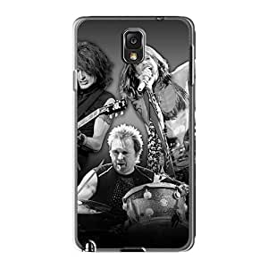 Durable Hard Phone Cover For Samsung Galaxy Note3 (RIB10002OVzK) Customized Trendy Aerosmith Band Pictures