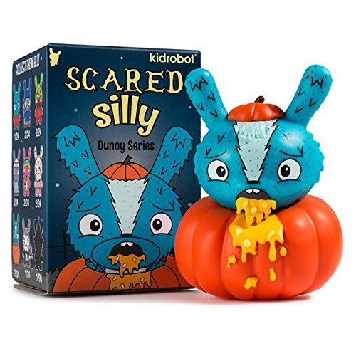Kidrobot Scared Silly Dunny Series By The Bots Figure - Pumpkin Puker (Open Box)