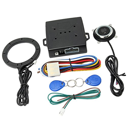 MagiDeal Auto Replacement DC 12V Car Engine Push Button Ignition RFID Remote Starter for - Starter Remote Install Engine