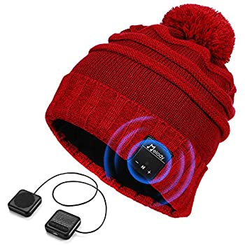 4ec28f64a5c PUMICE Bluetooth Beanie Hat Bluetooth 4.1 Music Beanie Wireless Headphone  Beanie with Detachable Stereo Speakers Washable Knit Beanie Cap for Men  Women ...